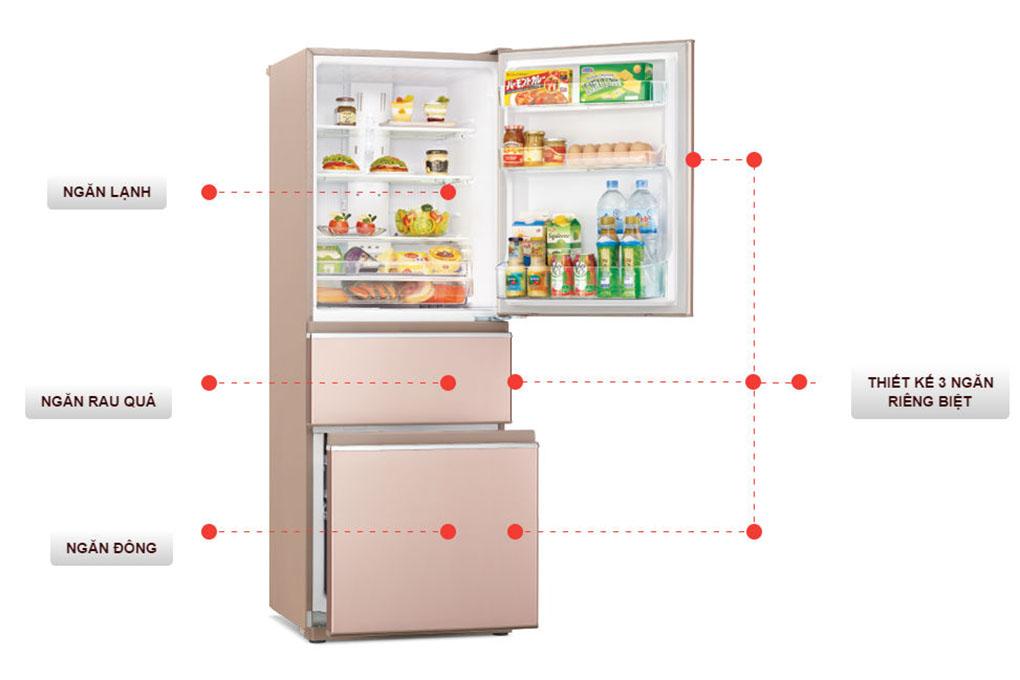 Tủ lạnh Mitsubishi Inverter 358 lít MR-CX46EJ-PS-V - Điện Máy Plus